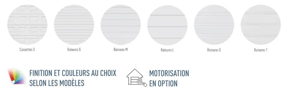 les motifs et couleurs pour les portes de garage